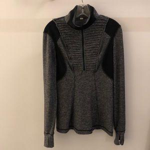 Lululemon black 1/2 zip pullover, sz 8, 68411